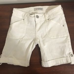 Guess white jeans shorts